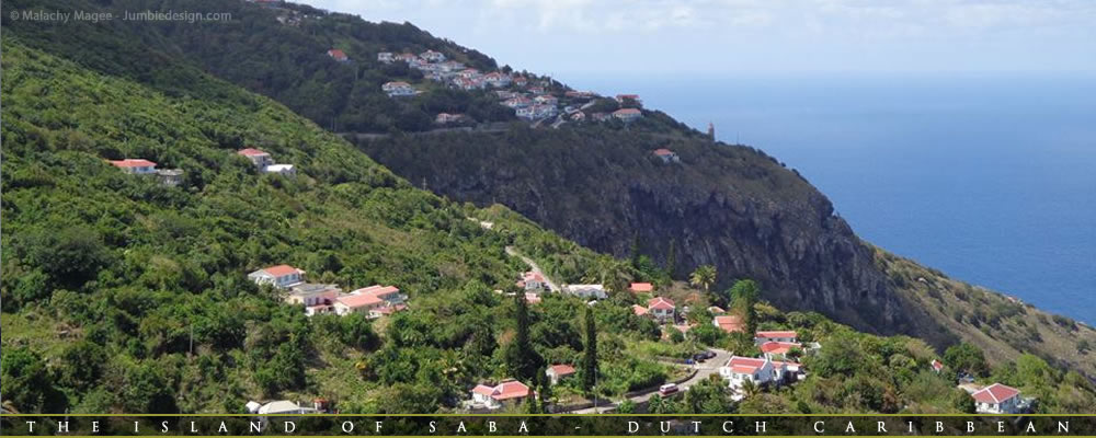 View of English Quarter & Hell's Gate on Saba